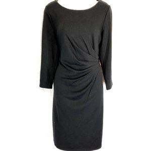 SPENSE Little Black Stretch Knit LBD Dress ~sz 12